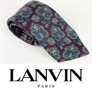 Lanvin Paris paisley silk tie